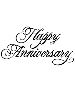 Rob Leuschke Happy Anniversary Wood Mount Stamp K5-58072J