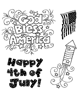 Happy 4th Clear Stamp Set 11303SC