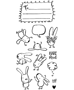 Hare Mail Clear Stamp Set - 11357LC