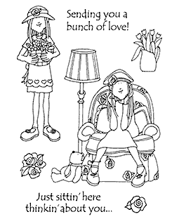 Hattie Lace Alice's Afternoon Clear Stamp Set 11180MC