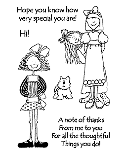 Hattie Lace Hattie's Girlfriend Clear Stamp Set 11023MC