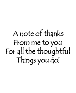 Note of Thanks Wood Mount Stamp G2-31217F
