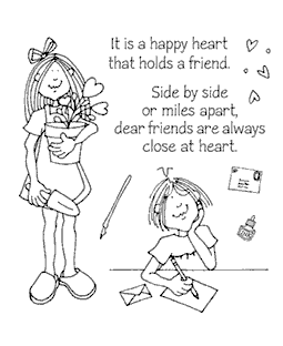 Hattie Lace Sends Love Clear Stamp Set 11019SC