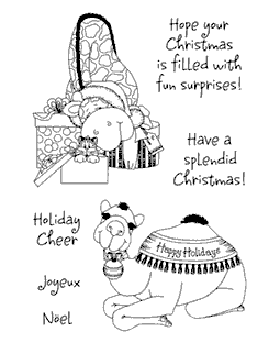 Holiday BaZooples #2 Clear Stamp Set 11062MC