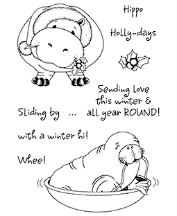 Holiday BaZooples #4 Clear Stamp Set 11067MC