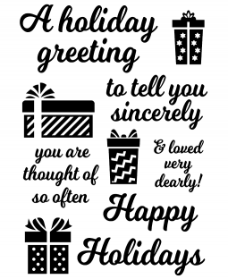Holiday Greeting Clear Stamp Set 11385MC