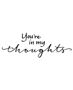 In My Thoughts Wood Mount Stamp J3-10082G