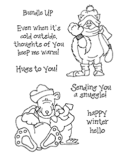 Janie Miller Bundled Up Clear Stamp Set - 11278MC