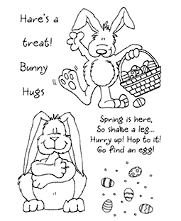Bunny #2 Clear Stamp Set - 11037MC