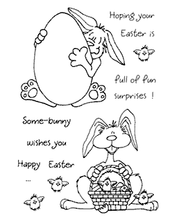 Bunny #3 Clear Stamp Set - 11038MC