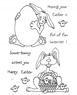 Janie Miller Bunny #3 Clear Stamp Set - 11038MC