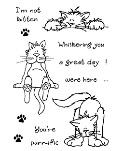 Cute Cats #4 Clear Stamp Set - 11075MC