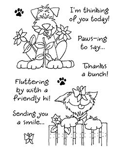 Delightful Dogs #3 Clear Stamp Set - 11076MC
