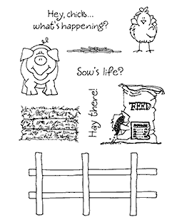 Janie Miller Farm Friends #2 Clear Stamp Set - 11238MC