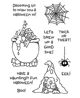Halloween Hijinx Clear Stamp Set 10919MC