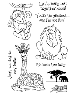 Jungle Friends Clear Stamp Set - 11239MC