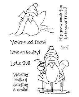 Petey Penguin #2 Clear Stamp Set - 11280MC