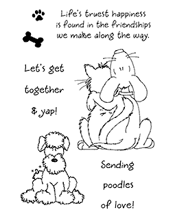 Puppy & Kitty Love #2 Clear Stamp Set - 11078MC