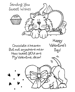 Valentine Critters #2 Clear Stamp Set 10950MC