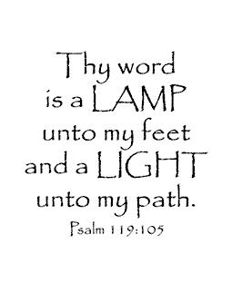 Lamp Unto My Feet Wood Mount Stamp H2-0348F