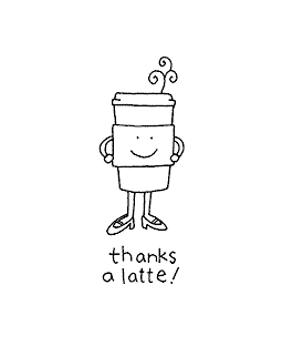Latte Thanks Wood Mount Stamp E2-10859E