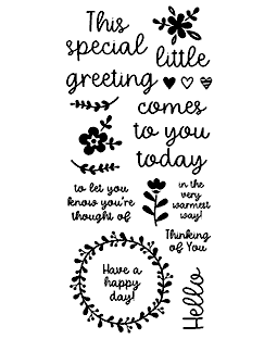 Little Greeting Clear Stamp Set - 11402LC