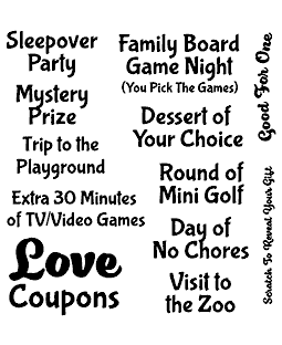 Love Coupon Add-ons Clear Stamp Set - 11335SC