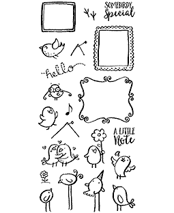 Nicola Storr Mail Birds Clear Stamp Set - 11358LC
