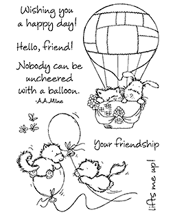 Balloon Kitties Clear Stamp Set - 11255MC