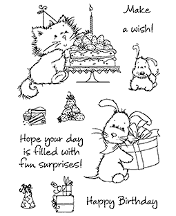 Birthday Delights Clear Stamp Set - 11259MC