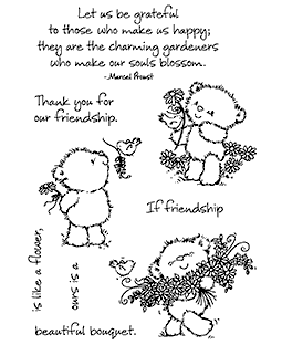 Bouquet Chickpea Bear Clear Stamp Set - 11302MC