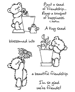 Maria Woods Planting Chickpea Bear Clear Stamp Set - 11301MC