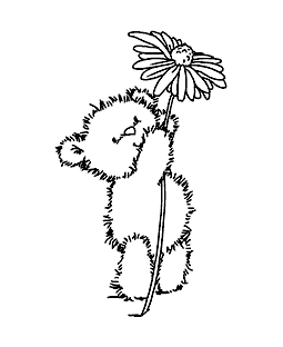 Chickpea's Daisy Wood Mount Stamp K5-0848H