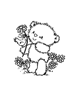 Chickpea's Perching Friend Wood Mount Stamp H1-0731F