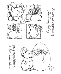 Easter Bunny Delights Clear Stamp Set - 11297MC