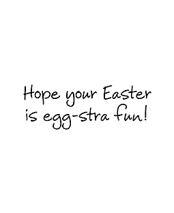 Egg-stra Fun Wood Mount Stamp E2-0667E