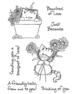 Maria Woods Flower Kitties Clear Stamp Set - 11256MC