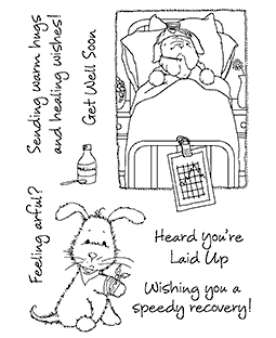 Maria Woods Get Well Pups Clear Stamp Set - 11257MC