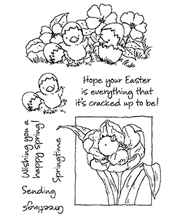 Playful Chicks Clear Stamp Set - 11299MC