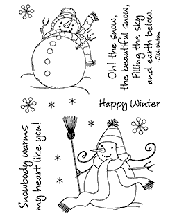 Sassy Snowman Clear Stamp Set - 11274MC