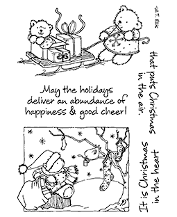 Maria Woods Teddy Bears' Gifts Clear Stamp Set - 11271MC
