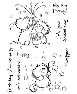 Maria Woods Time To Celebrate Clear Stamp Set - 11260MC
