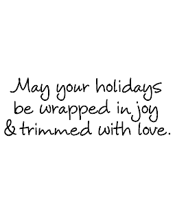 Wrapped In Joy Wood Mount Stamp J5-9663G