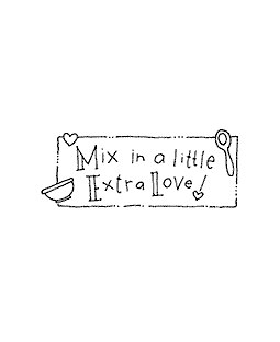 Ronnie Walter Mix in Love Wood Mount Stamp D4-10781D