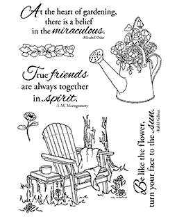 Nancy Baier Adirondack & Flowers Clear Stamp Set 11160MC