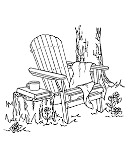 Adirondack Chair Wood Mount Stamp M2-0653J