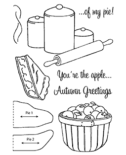 Apple Pie Clear Stamp Set 11120MC