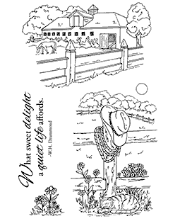 At The Stable Clear Stamp Set 11173MC