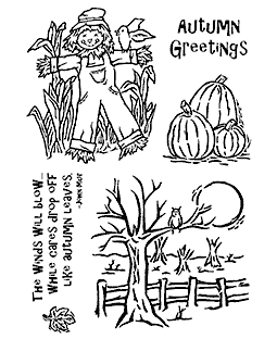 Nancy Baier Autumn Fields Clear Stamp Set 11196MC