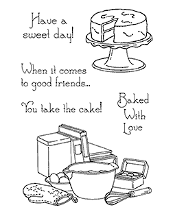 Nancy Baier Baking Time Clear Stamp Set 11144MC